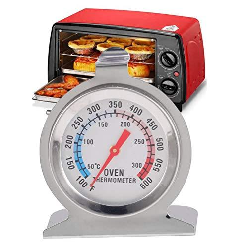 Comtervi - Termómetro de acero inoxidable con pantalla grande, para horno, pizza,...