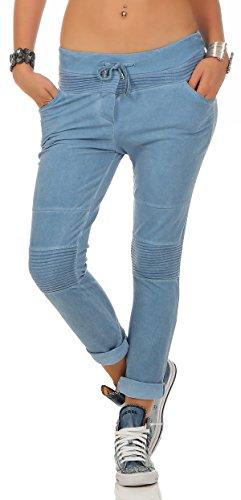 Zarmexx Damen Jogging Hose Sweatpants Boyfriend Freizeithose Jogger Baumwolle One Size 1853