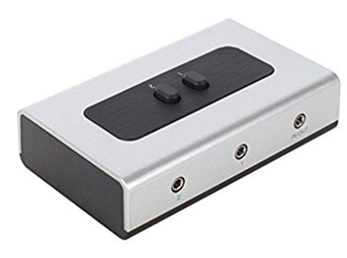 2Port 3,5mm Stereo Manual Switch Box AUX Audio Lautsprecher Selector (Wandhalterung Loch integrierter, Wand oder Tisch erhältlich) - Aux-audio Switcher