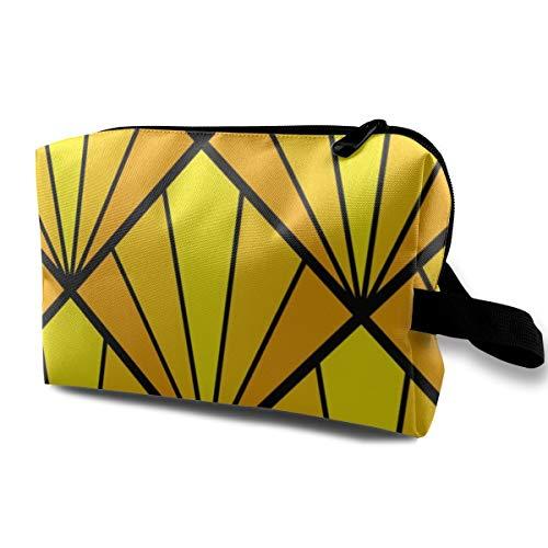 04502265 Deco Diamond 5K Yellow_2549 Kulturbeutel, Kosmetiktasche, tragbare Make-up-Tasche für Frauen, Mädchen, 25,4 x 12,7 x 15,2 cm -