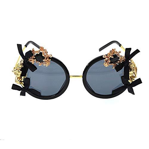 XHCP Frauen Klassische Sonnenbrille Engel Und Bowknot Metall Kristall Barock Sonnenbrille Blume Polarisierte Brillen Für Frauen Strand Sonnenbrille Modenschau Stil Sonnenbrille