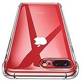 Garegce Custodia iPhone 8 Plus, Custodia iPhone 7 Plus, Silicone Bumper Cover[Libero Pellicola Vetro Temperato][Ultra Sottile] Anti Antiurto Protettiva Cover per iPhone 8/7 Plus-(Trasparente)