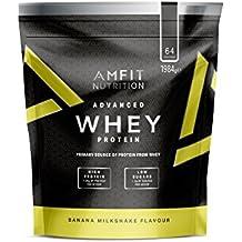 Marque Amazon - Amfit Nutrition Advanced Whey protéine de lactosérum saveur milk-shake à la banane, 64 portions,  1980 g