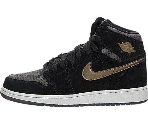new style 2ea4b 04218 Jordan Schuhe – Air 1 Ret Hi Prem HC (GS) schwarz golden