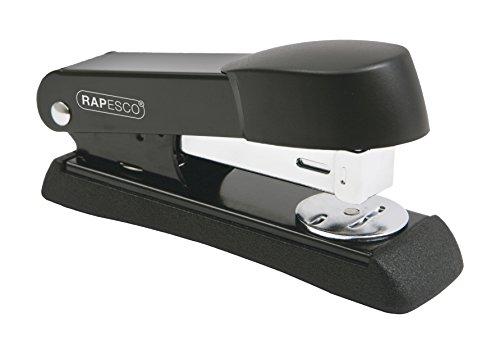 Rapesco 1091 Minno Cucitrice da Scrivania in Metallo, Capacità di 20 Fogli, Punti 26 & 24/6 mm, Barra Piccola, Nero