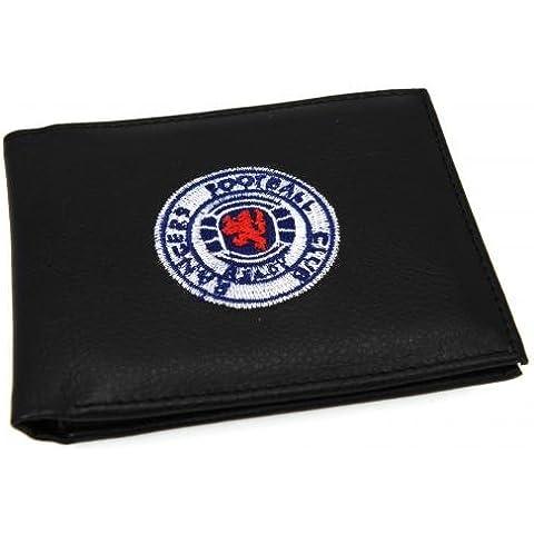 Rangers FC Portafoglio 7000 - stampata - con logo ricamato - tasche per carte di credito - circa 11 cm x 9 cm - on a un cartoncino - su licenza