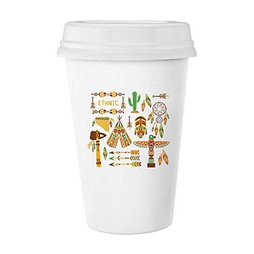 Totem culto Native American Indian Dream Catcher Classic blanco cerámica de cerámica taza de leche taza de café taza 350ml