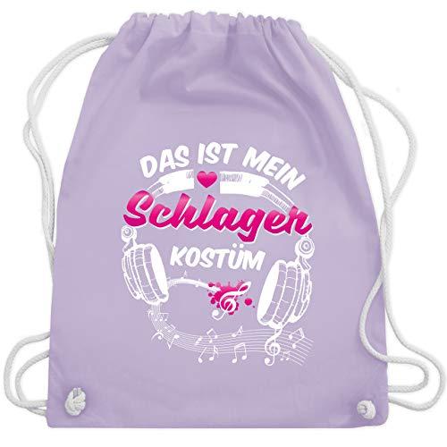 Kostüm Über Lieder - Karneval & Fasching - Das ist mein Schlager Kostüm - Unisize - Pastell Lila - WM110 - Turnbeutel & Gym Bag