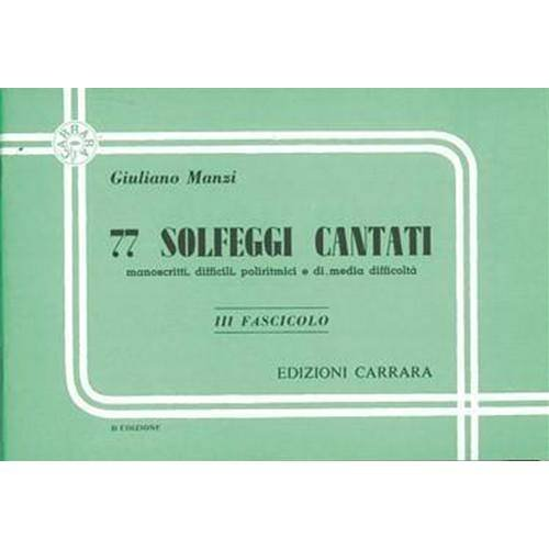 Manzi G. 77 Solfeggi cantati III fascicolo ed. Carrara