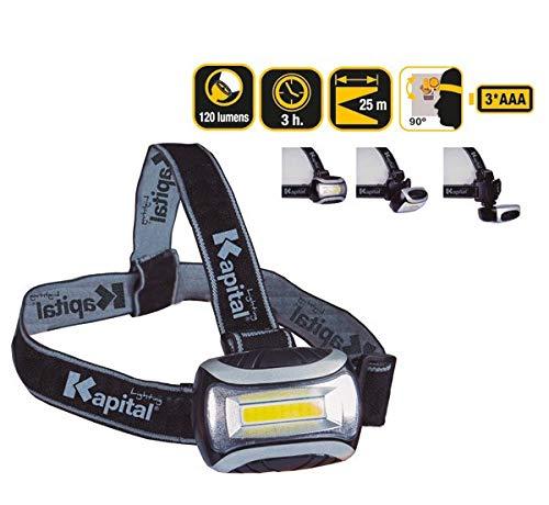 Kapital KL120HL - Linterna Frontal Multimodo 120 Lumens