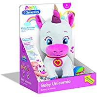 Image of Clementoni Peluche Interactive Baby Unicorn with Lights and Sounds, Multicoloured (552627) - Comparsion Tool