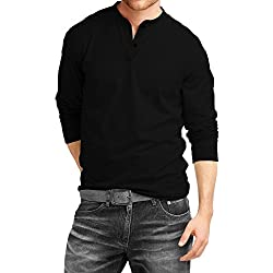 Fanideaz Men'S Cotton Long Sleeve Top (Fihn0266B_Xl_Black_X-Large)