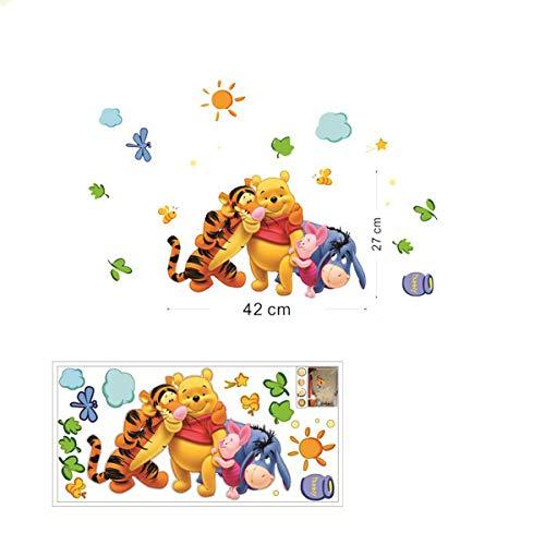 Amis et Winnie l'Ourson stickers muraux pour la décoration de la chambre des enfants animal film famille applique murale