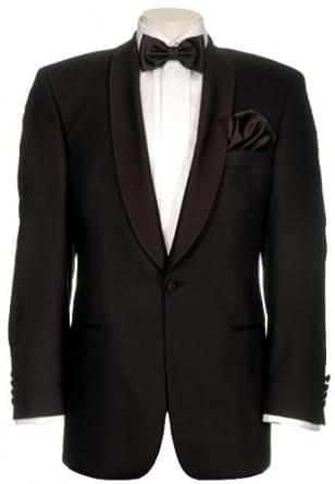 Smoking masterhand chianti sans fente à l'arrière avec tinto pantalon noir taille 26