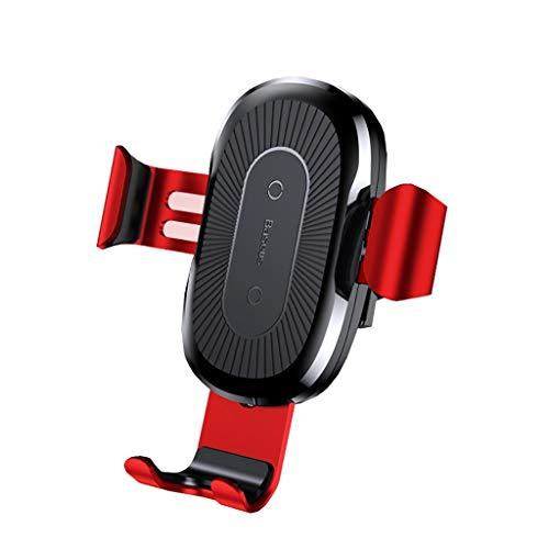 QTDS Die besten Auto Handyhalter Auto drahtlose Ladegerät Luftauslass Navigationsrahmen (Color : B) -