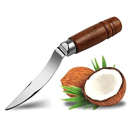 VLUNT HOME Obst Gemüsemesser Kokosnuss-Öffner-Messer-Shellöffner Edelstahl-Frucht-Gemüse-Fleisch-Auszieher-Küchen-Werkzeug-Versorgungsmaterialien