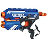 Orangeidea.in Blaze Storm Foam Bullet Blaster Manual Toy Gun Includes 10 Bullets (Multicolour)