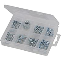Fixman 755343 - Pack de 108 tuercas hexagonales, color plata