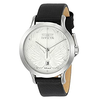 Invicta 23183 Angel Reloj para Mujer acero inoxidable Cuarzo Esfera plata