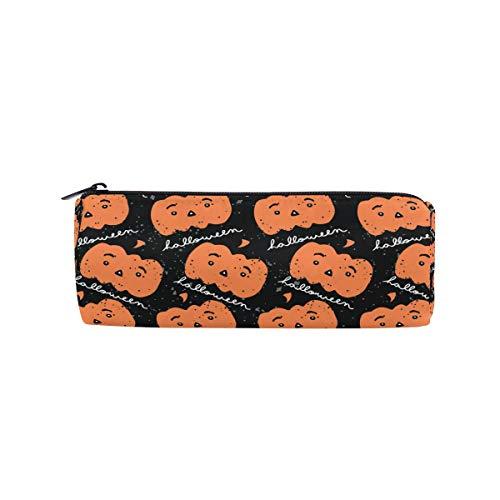 n, Halloween, lustiges Kürbis-Emoji-Bleistiftetui für Schule, Schreibwaren, Stiftebox, Reißverschluss ()