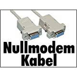 1,8m Nullmodem Kabel Null Modem Kabel 1,80m m RS232 Patch Kabel [PC]