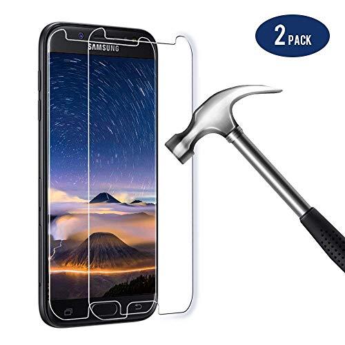 Bigmeda Panzerglas für Samsung Galaxy J5 2017, 2 X Panzerglasfolie für Samsung J5 2017 Folie 9H Anti-Fingerabdruck mit J5 2017 Hülle Schutzfolie Displayschutzfolie Display für Samsung J5 2017