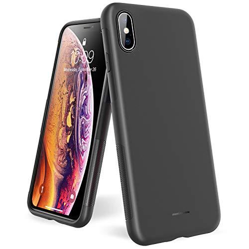 UNBREAKcable Cover iPhone X, Cover iPhone XS - Custodia iPhone X/XS Ultra Sottile Anti-Graffio e Resistente alle Impronte Digitali Caso della Copertura Protettiva in TPU per iPhone X/XS - Nero