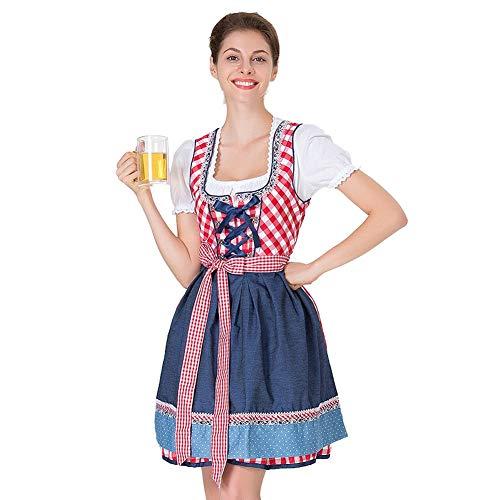 Kostüme Erwachsener Damen Frauen Sexy Christmas Halloween Karneval Cosplay Damenkostüm Damen Fancy Dress Traditionell Bier Mädchen Costume Kostümzubehör Süß Dienstmädchen - Dienstmädchen Für Sie Adult Kostüm