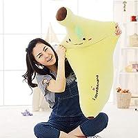 CGDZ Plush toy 40-80cm Creative Soft Banana Plush Pillow Staffed Emoji Banana Cushion Boyfriend Pillow for Girls Valentine
