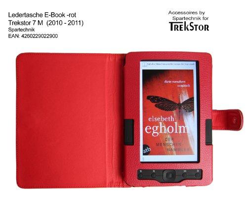 Rote Tasche für Trekstor 7 M E-Book Reader - bestes Case für E-Book Reader Trekstor 7 (M) - Elektronisches Buch - rot