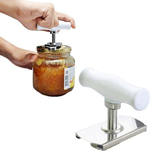 Yocome Dosen- & Deckelöffner Glasöffner Deckeln aus Edelstahl Off Glasöffner - Öffner Set groß für schwache Hände und Senioren mit Arthritis - Jar Dosen Öffner