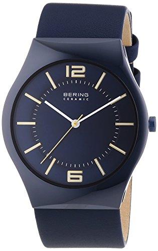 Bering Time - 32039-880 - Montre Homme - Quartz Analogique - Bracelet Cuir Bleu