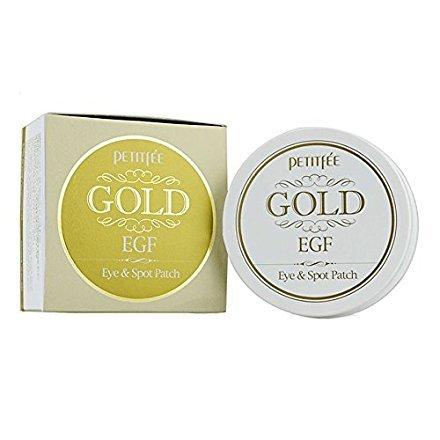 Petitfee Gold EGF Eye & Spot Kollagen-Augenpatches für Augen und Gesicht, mit Goldpulver, für 60Behandlungen -