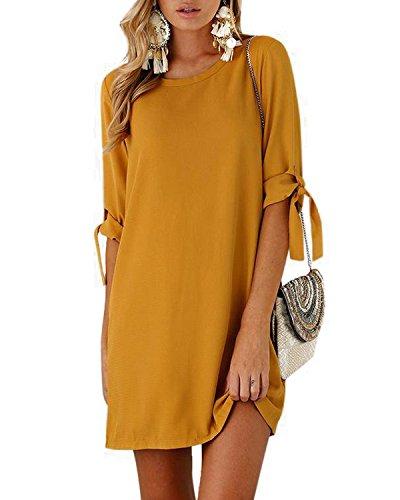 T shirt kleid gelb