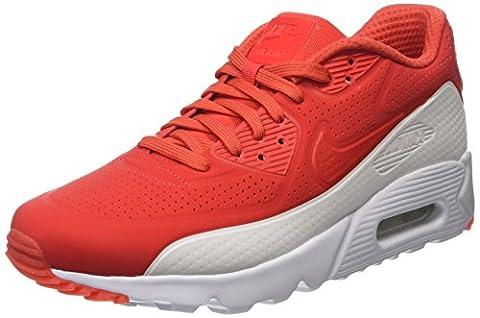 Nike Men Air Max 90 Ultra Moire Training Running Shoes, Red (Light Crimson/Light Crimson/White), 9 UK 44 EU