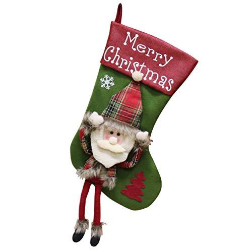 Sac de bonbons cadeau de Noël chaussette grande taille