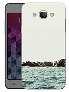 """Humor Gang Beach Side Printed Designer Mobile Back Cover For """"Samsung Galaxy A8"""" (3D, Matte Finish, Premium Quality, Protective Snap On Slim Hard Phone Case, Multi Color)"""