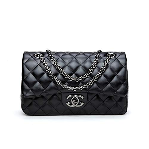WJNKK 2018 Baby Frauen Handtaschen Umhängetasche Kette Schultertaschen Mode Mini Taschen Lingge Handtaschen28x16x8cm,Black3-OneSize
