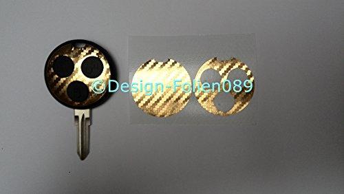 pellicola-decorativa-in-carbonio-per-chrome-gold-chiave-smart-cabrio-amg-fortwo-450-brabus-coupe