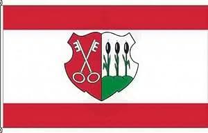 Königsbanner Kleinfahne Oschersleben (Bode) - 20 x 30cm - Flagge und Fahne