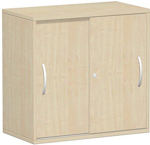Gera Möbel Schranksystem Flex Schiebetürenschrank, Holzdekor, ahorn, 80 x 42.5 x 79.8 cm -