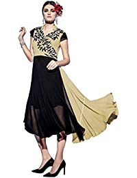 Lords Black, Grey Geprgette Semi Stitched Embroidery With Embroidery Kurti