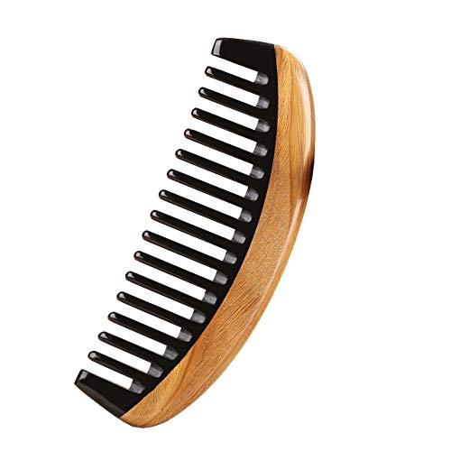 LWBTOSEE Peine de madera de neem de dientes anchos