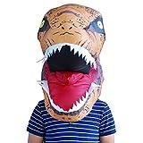 LIUXIN Overlord Inflable Faucet Máscara de Cabeza de Dinosaurio Inflable Arnés Nuevo Tyrannosaurus Máscara de Halloween (Color : Orange)