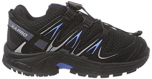 Salomon Xa Pro 3d K, Chaussures de Course Garçon gris (Gris (Black / Black / Freedom Blue))