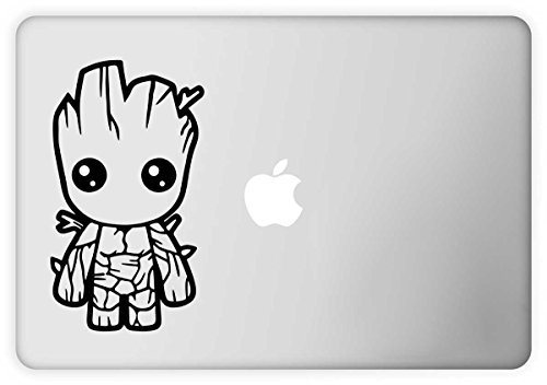 PPD Laptop Decal 'Groot Baby' ( Height -4.77inch X Width -8.06inch) ( Material - Removable Vinyl Sticker )( Pack Of 1 ) Sticker