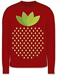 NEU Damen süß Erdbeere Früchte witzig langes ärmelloses Top Sommerkleid