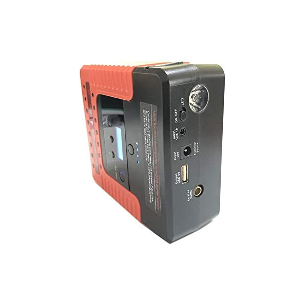 Ameginer Dispositivo de Arranque Pantalla Digital 400A Arrancador de Salto de Coche Bomba de Aire Arrancador de Coche para Cargador de batería de Coche Compresor de Aire