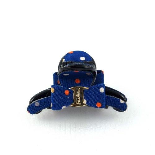 rougecaramel - Accessoires cheveux - Pince cheveux mini pince crabe à pois - bleu