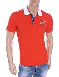 EA7 - Armani Olympic - Polo rouge slim stretch homme été 2016 273967 6P254